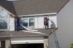 new aluminum siding installation